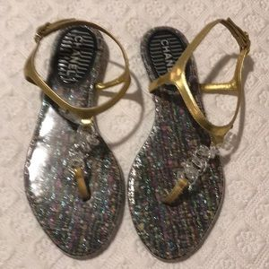 Chanel sandals golf &lucite  size 37
